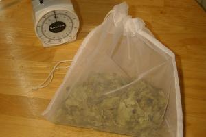 Hop bag: para colocar lúpulos em diferentes formatos no fermentador
